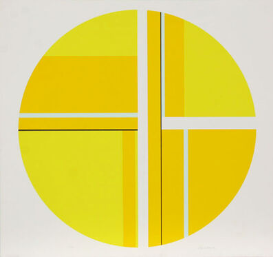 Ilya Bolotowsky, 'Untitled (Yellow Tondo)', ca. 1970