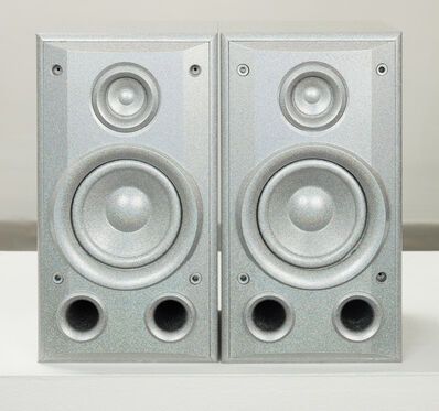Sadie Barnette, 'Untitled (Small Silver Speakers Set)', 2019