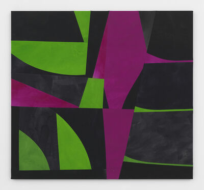 Sarah Crowner, 'Sliced Green and Violet Weeds (after HM)', 2017