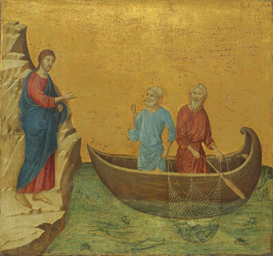 Duccio, 'The Calling of the Apostles Peter and Andrew', ca. 1308-11