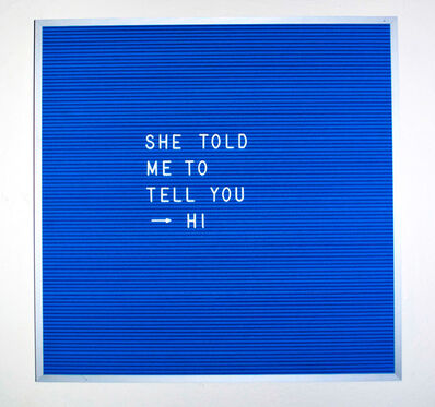 Nicole Reber, 'Guess Who I Ran Into', 2015