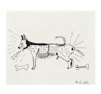 "Mike Kelley, '""The Territorial Hound"", Pen and Ink Drawing, ""Mike Kelley"" Phaidon Monograph', 1999"