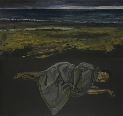 Guy de Malherbe, 'Endormie, manteau gris II (diptyque)', 2007