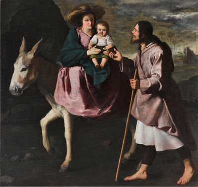 Master of Besançon, 'Huida a Egipto (The Flight into Egypt)', ca. 1640