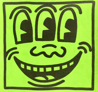 Keith Haring, 'Original Keith Haring Three Eyed Smiling Face sticker circa early 80s', ca. 1982