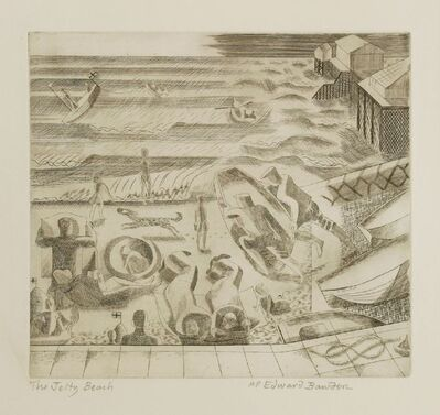 Edward Bawden, ''THE JETTY BEACH''