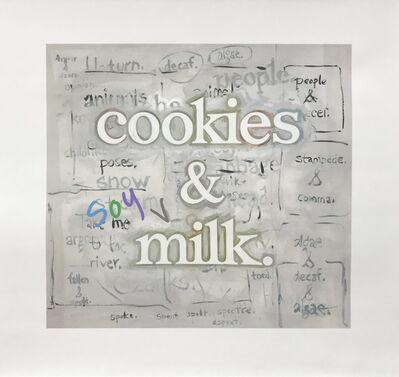 Ricci Albenda, 'cookies & [soy] milk', 2020