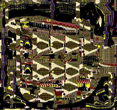 Lee Mullican, 'Computer Work', 1987