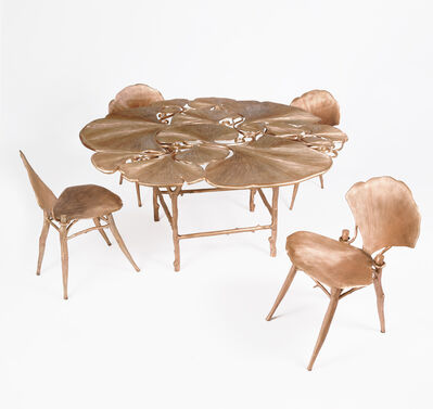 Claude Lalanne, 'Ginkgo Table and Chairs', 1996-2015