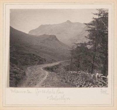 Frederick D. Evans, 'Ulleswater, Grisedale Pass, Helvellyn', circa 1900