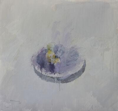 Alberto Romero, 'Plato con ciruelas negras y amarillas', 2017