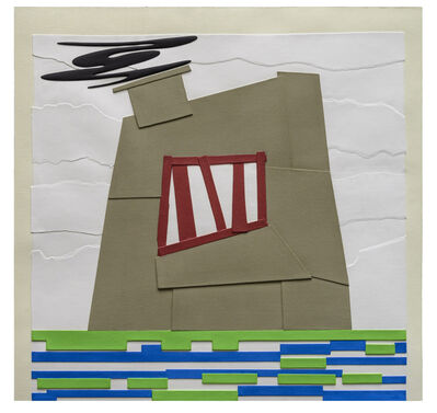 Peter Halley, 'Prison with Smokestack I', 2014