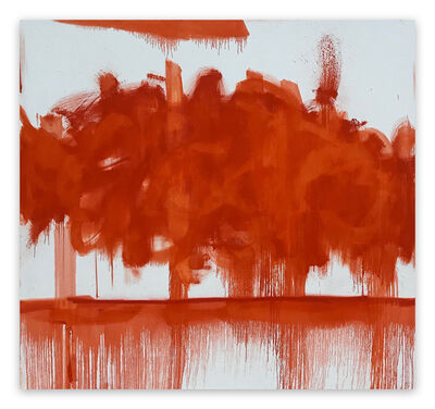 Tommaso Fattovich, 'Red Cloud (Abstract painting)', 2020