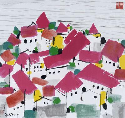 Wu Guanzhong, 'Bin Hai Red House', 2000-2005