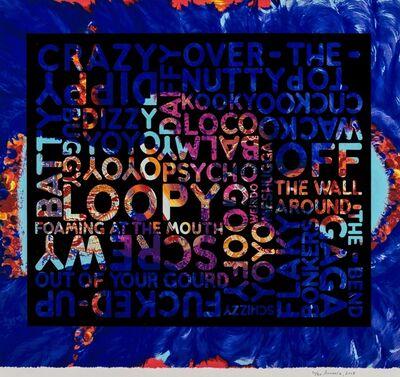Mel Bochner, 'Crazy (With Background Noise)', 2018