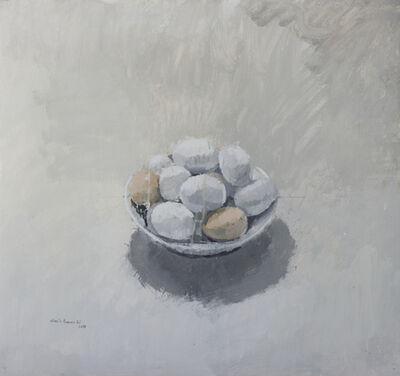 """Alberto Romero, '""""Cuenco con huevos blancos y morenos""""', 2017"""