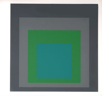 Josef Albers, 'Homage to the Square : Als Wechselwirkung der Farbe (E)', 1977