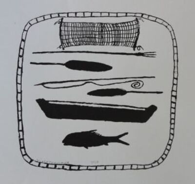 Violet Hammer, 'Canoe and Fishing Implements', 2009