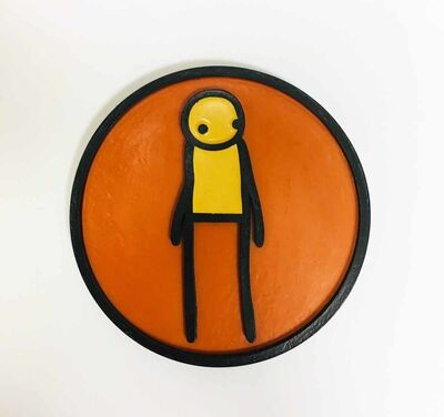 Stik, 'Plaque (Orange)', 2011