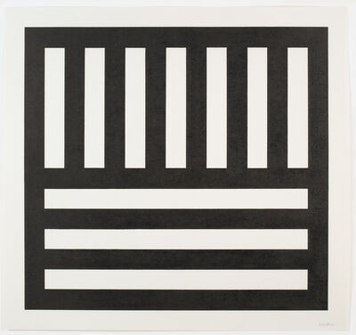 Sol LeWitt, 'Black Bands in Two Directions', 1991