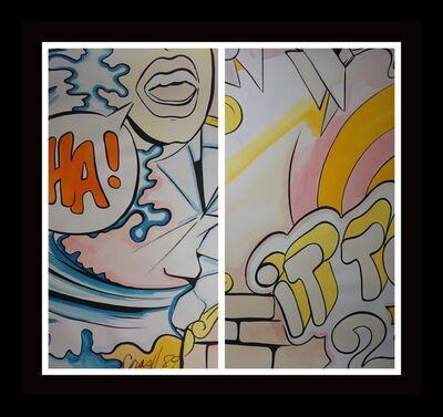 CRASH, 'It Takes 2 - 2 Pieces Diptych Original Watercolors'