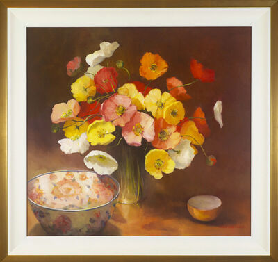 Jacqueline Fowler, 'Amari Bowl with Poppies'