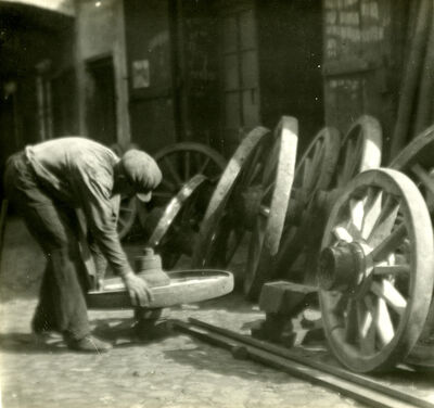 Josef Sudek, 'Worker with Wheels', 1920s