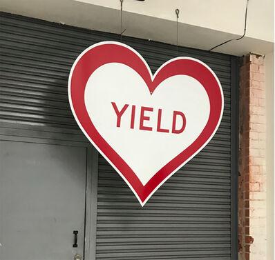 """Scott Froschauer, '""""Yield Heart"""" - Contemporary Street Sign Sculpture', 2018"""