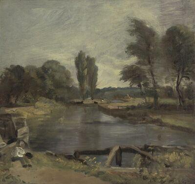 John Constable, 'Flatford Lock', between 1810 and 1811