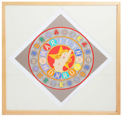 Robert Indiana, 'The Metamorphosis of Norma Jean Mortenson (framed, signed)', 1997