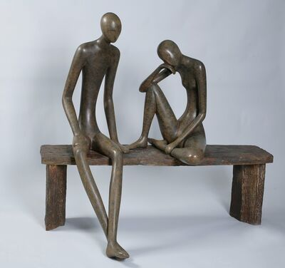 Ruth Bloch, 'Ruth Bloch, Couple on a large bench', 2010