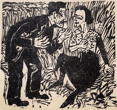 Ernst Ludwig Kirchner, 'Der Festbauer: Sigismund und Christine (The Feasting Farmer: Sigismund...)', 1923
