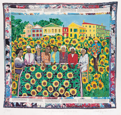 Faith Ringgold, 'The Sunflowers Quilting Bee at Arles', 1996