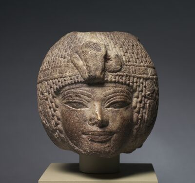 Egypt, New Kingdom, Dynasty 18, reign of Amenhotep III, 1391-1353 BC, 'Head of Amenhotep III Wearing the Round Wig', c. 1391-1353 BC
