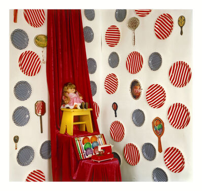 Jacky Redgate, 'Unfold (Mirrors) - Doll, coaster and spoon set, toy sewing machine', 2016