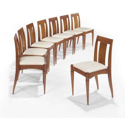 Émile-Jacques Ruhlmann, 'A Set of Eight Chairs', circa 1931