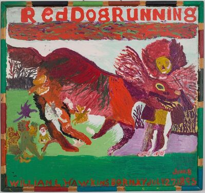 William Hawkins, 'Red Dog Running #2', ca. 1984