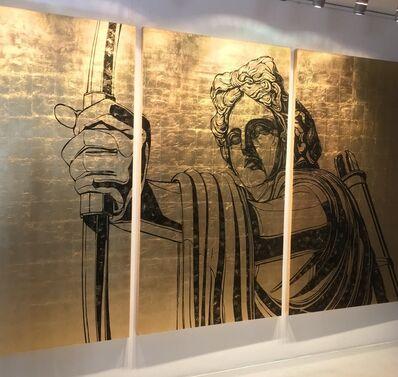 "Alexey Guintovt, '""Apollo"" triptych', 2018"