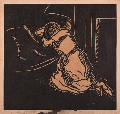 Harry Epworth Allen, 'Study of the artist's future wife, sleeping', 1924