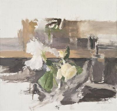 Antonio López García, 'Lirios y rosas', 2017