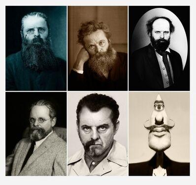 Gavin Turk, 'Rodin, Morris, Cézanne, Man Ray, Dali (Beard Project Lithographic Print)', 2015