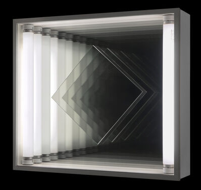 Christian Megert, 'Light kinetic - turning square in an endless room', 1973