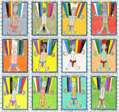 Frédéric Bruly Bouabré, 'The man hung by colors, from the back ', 2011