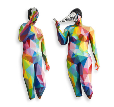 Okuda San Miguel, 'Digital Hypnosis (sculpture, front and side view)', 2020