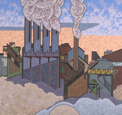Easton Pribble, 'Winter Industrial', 1988