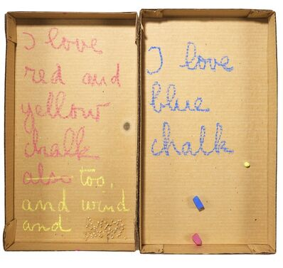 Robert Filliou, 'Autobiographical Element: I Love Chalk', 1973