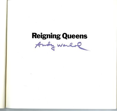 Andy Warhol, 'Reigning Queens Limited Edition Numbered Exhibition Catalogue)', 1985