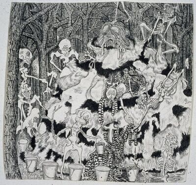 Trenton Doyle Hancock, 'Vegans Collect Moundmeat in Buckets', 2002
