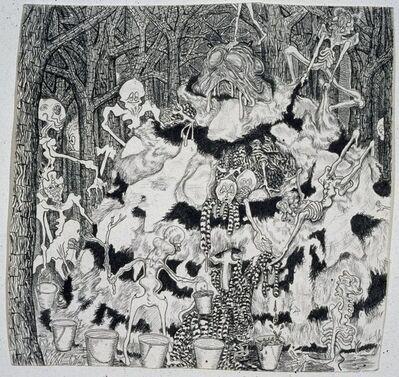 Trenton Doyle Hancock, 'Vegans Collect Moundmeat in Buckets', 2002