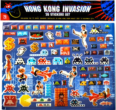 Invader, 'HONG KONG INVASION 3D STICKER SET', 2015